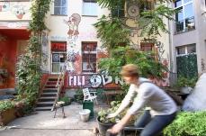 Central, courtyards, Berlin Mitte, bike, summer