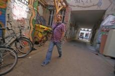 Street art, graffiti, courtyard, Berlin Mitte