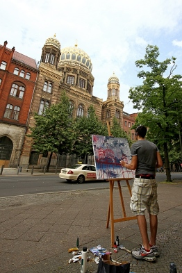 easel,, painting, art, Berlin, street