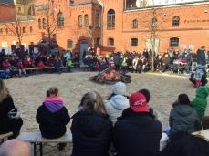 Kulturbrauerei, sunny day, spring, Berlin, fire, Easter