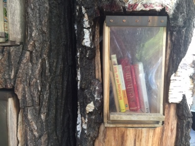 Book forest, berlin, tree trunk, read, reading, literature