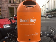 Berlin, litter bins, recycling, garbage, city, waste management, butler